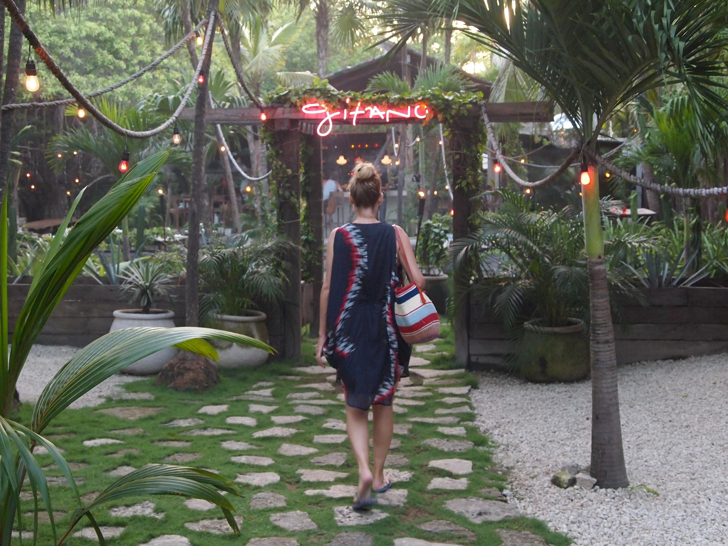 Mexico. Walking into Gitano, an open-air restaurant so eye-catching, I wish was my backyard.