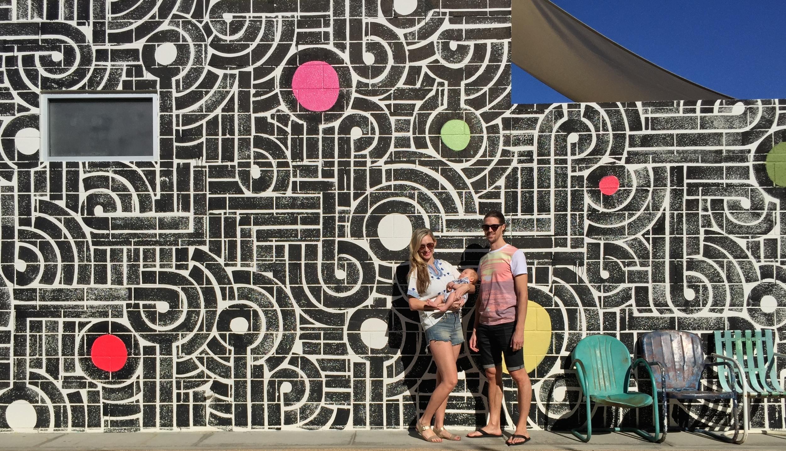 We had to. The Aaron Delacruz-designed wall was too cool.