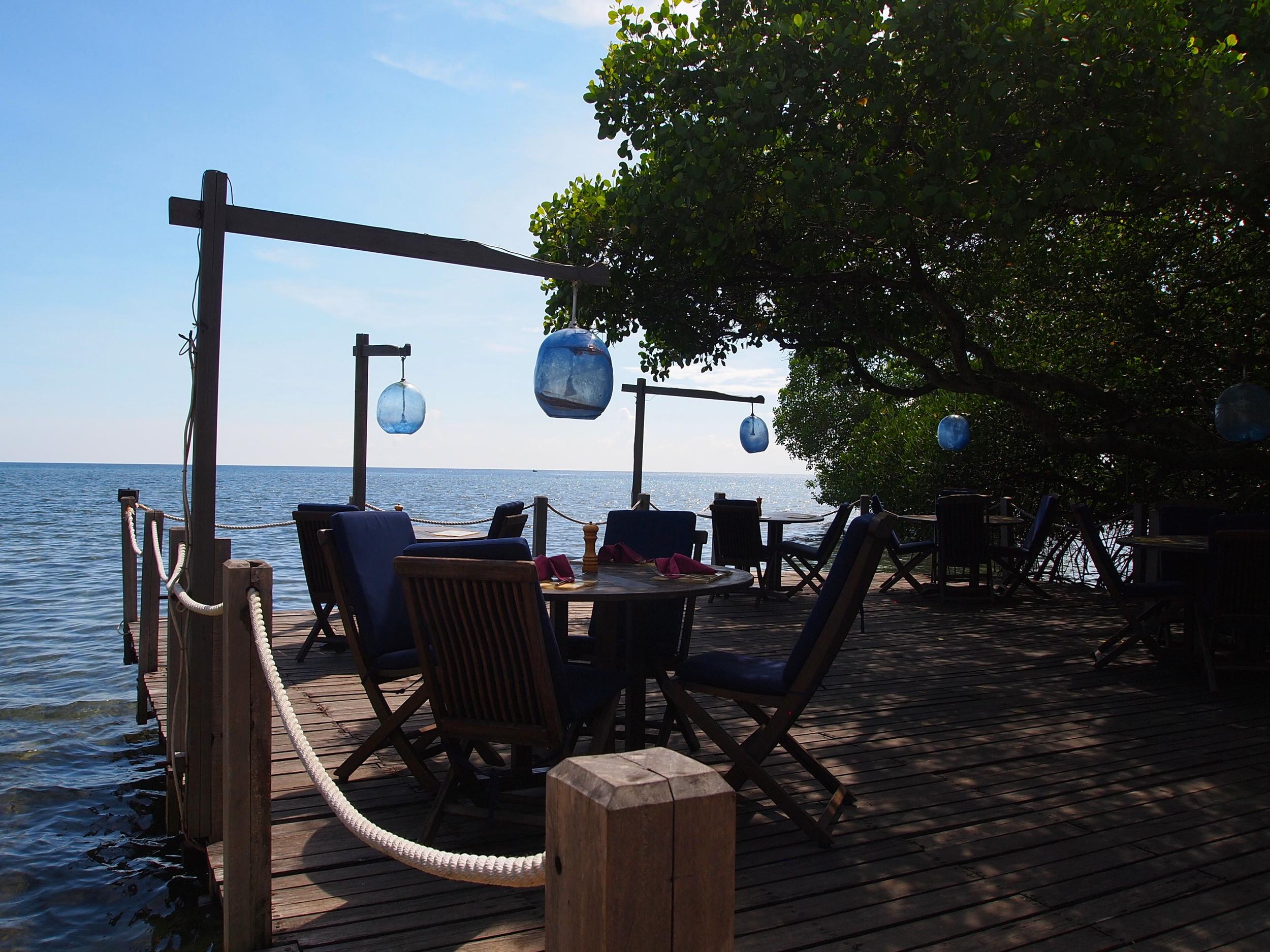 Dockside dining in West Bali at  The Menjangan  {glamping!}.