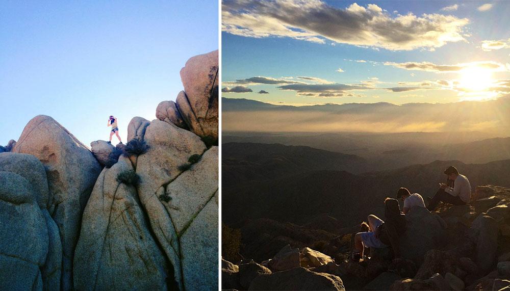 Jumbo Rocks and sunset at Keys View