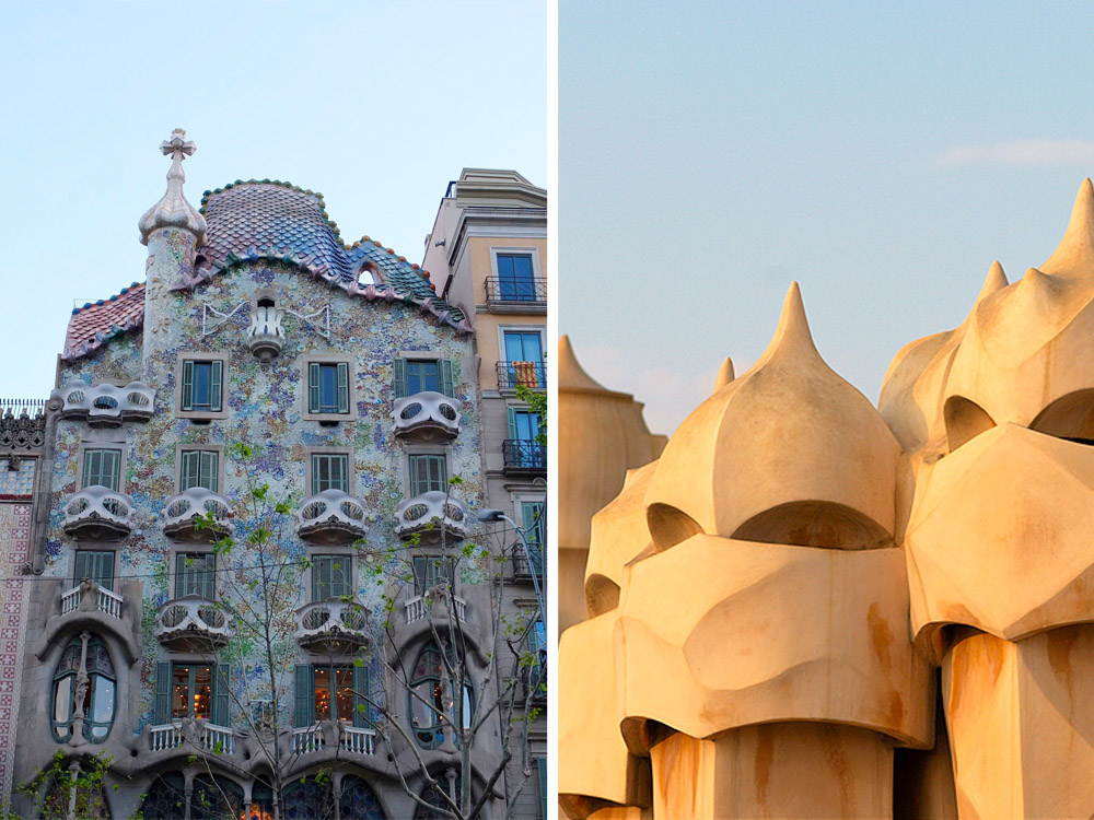DO // All Gaudí all the time? Marvel at the mind of Spain's most famous architect inside  Casa Batlló   and  Casa Milà .