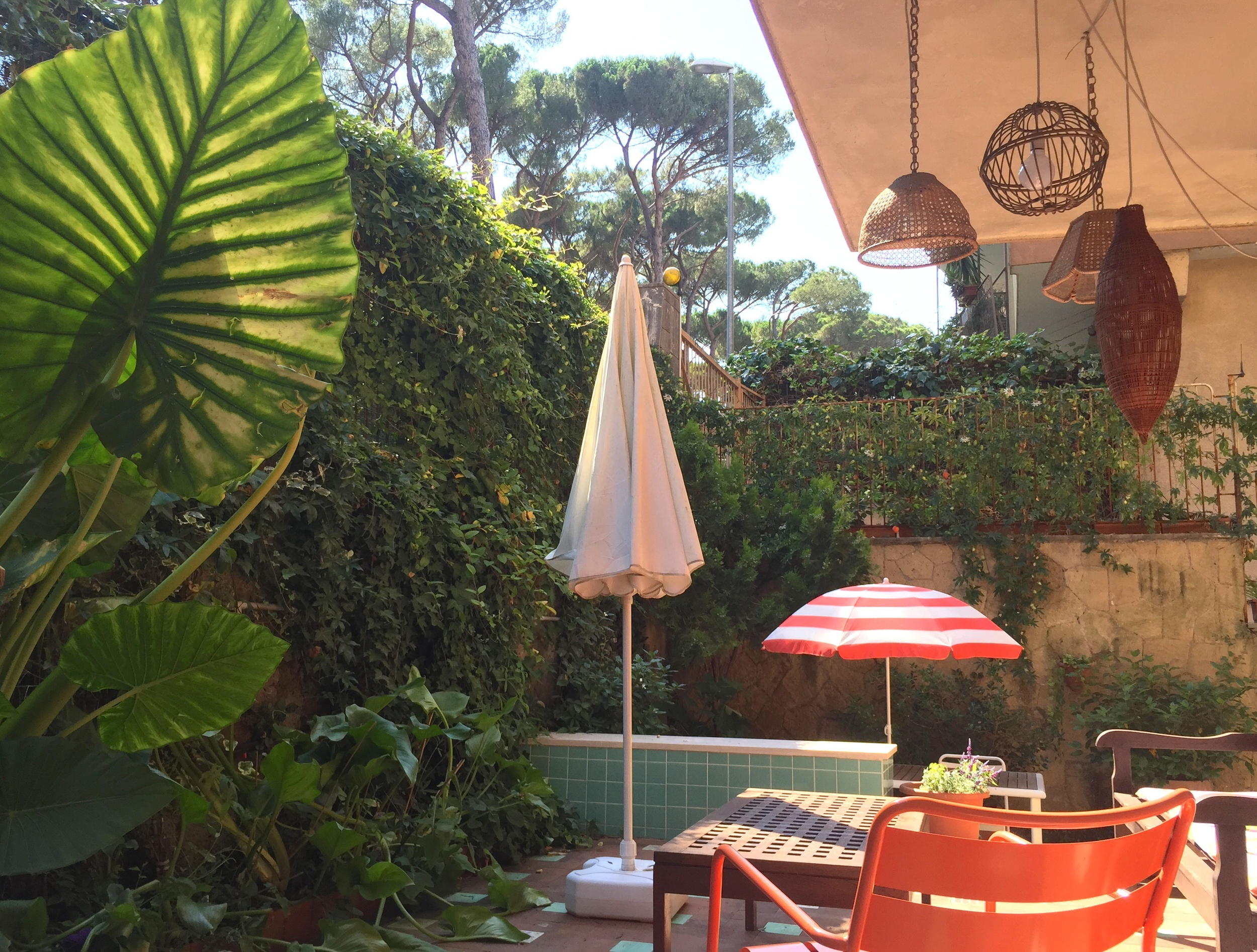 Patio. Trip Styler Tip: Rome has mosquitoes, so if you're going to use this little oasis, put on some repellent or cover your limbs.