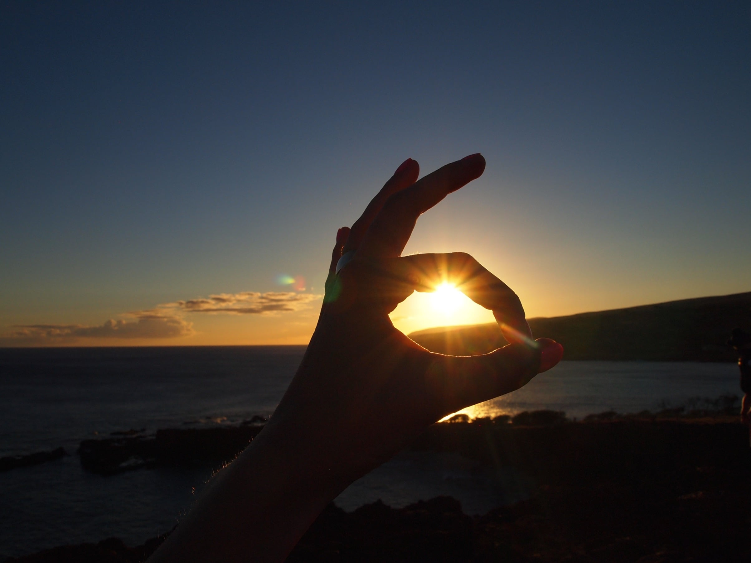 Lanai: The sunset from Sweetheart Rock.