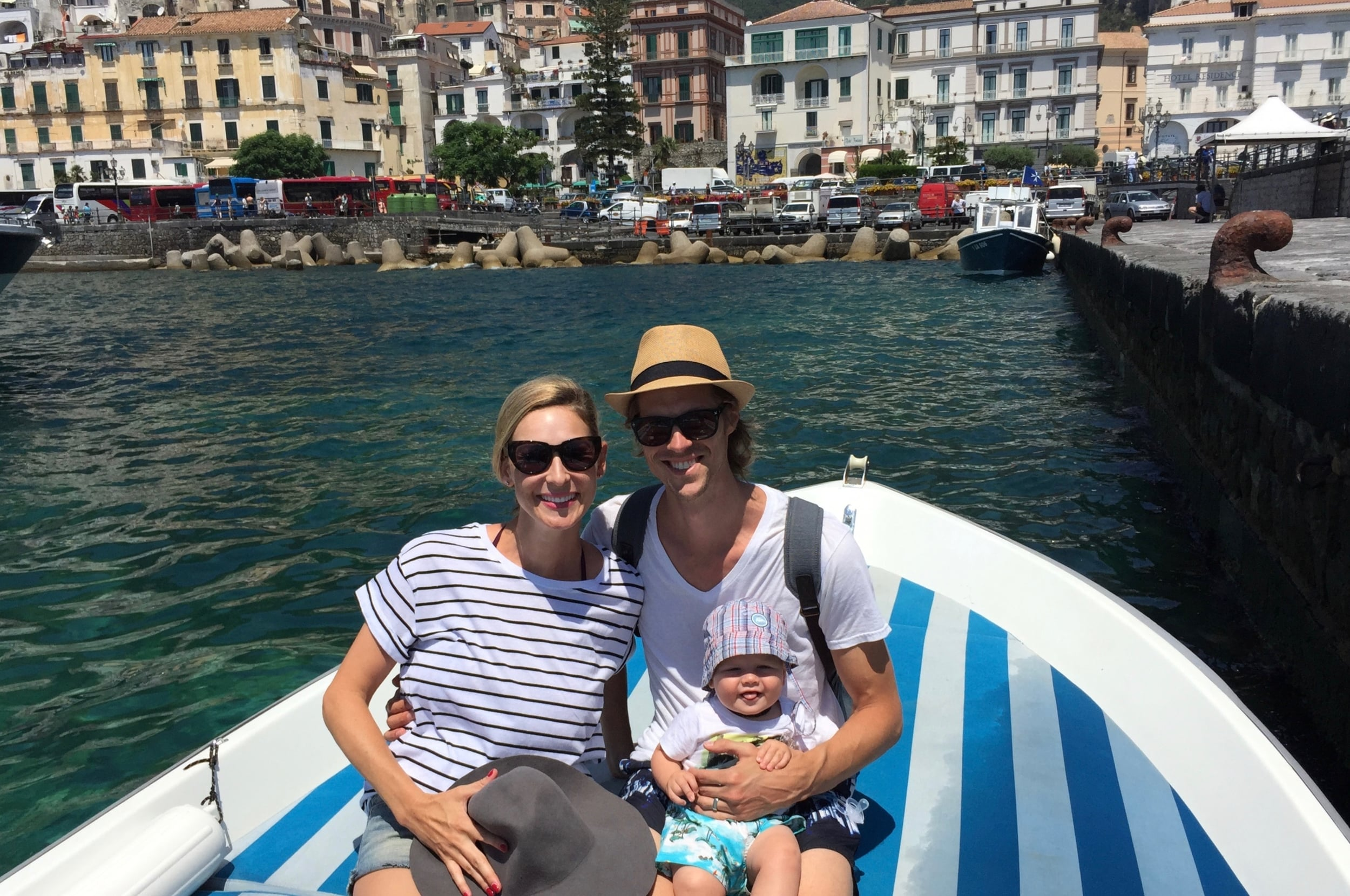 Amalfi: and my FAVE Trip Styler family pic complete with Baby Styler's tongue sticking out!