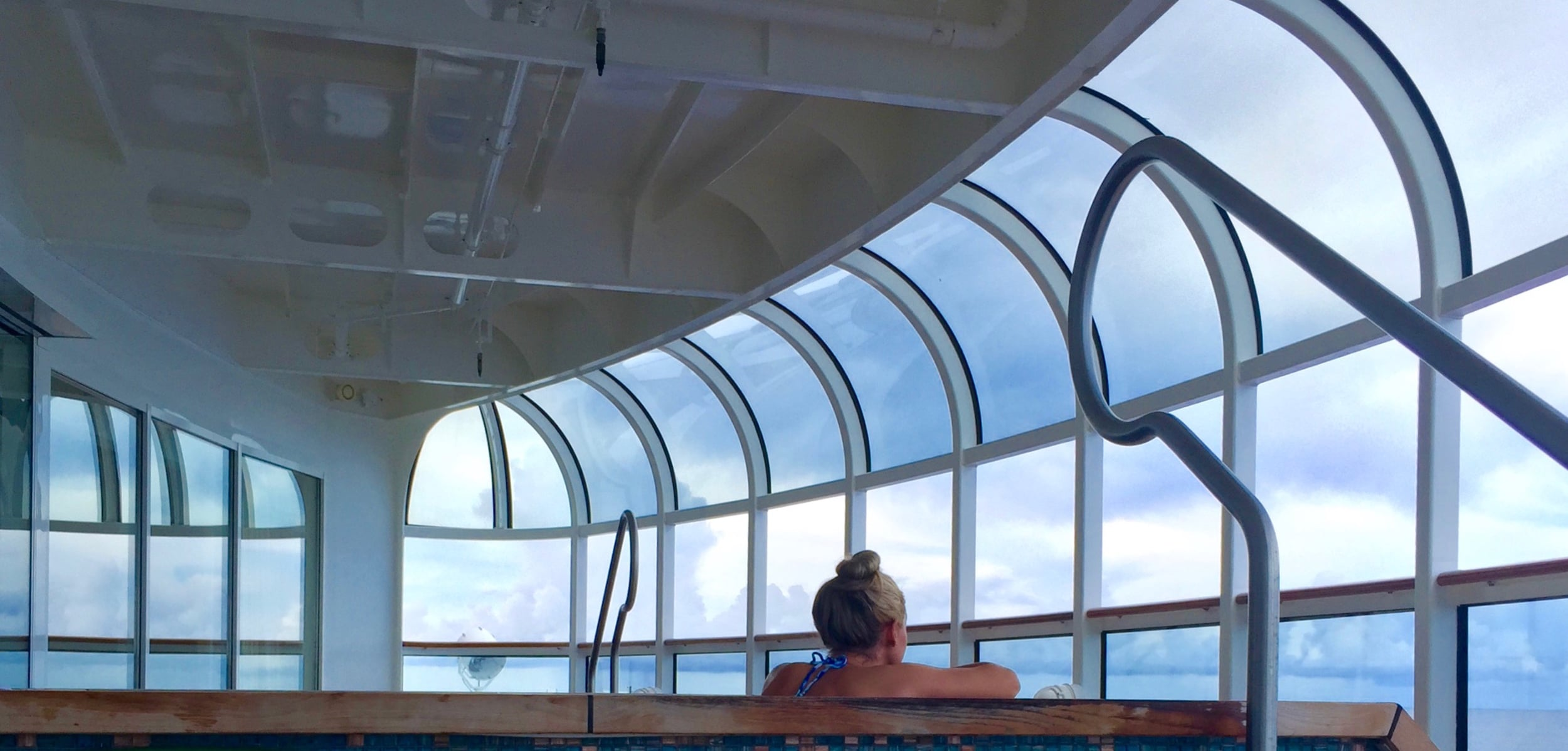 The adult-only spa. Parents: If you have tykes old enough to do the kids programs, get a spa pass for the whole cruise!