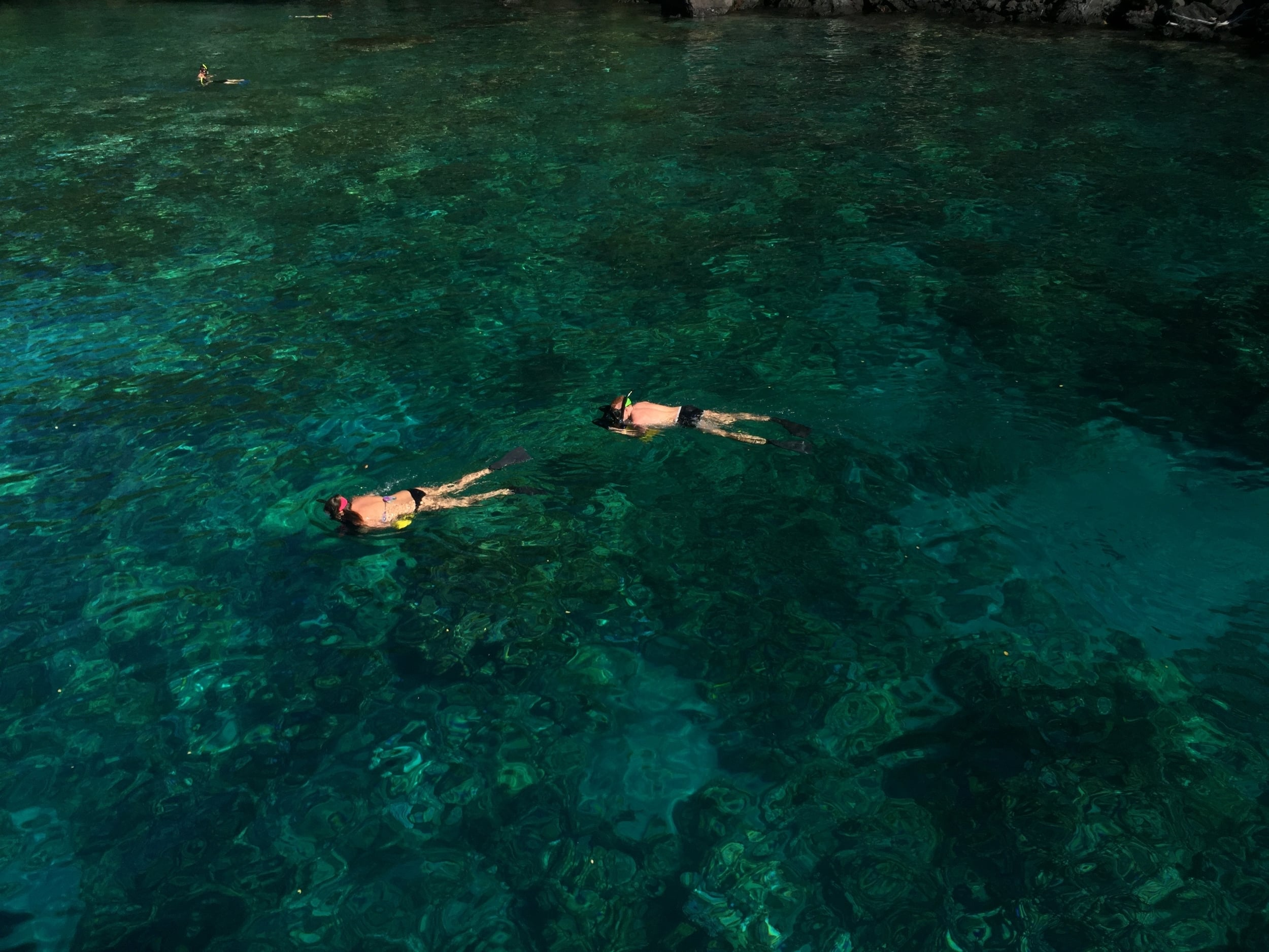For the snorkeling in crystal clear water