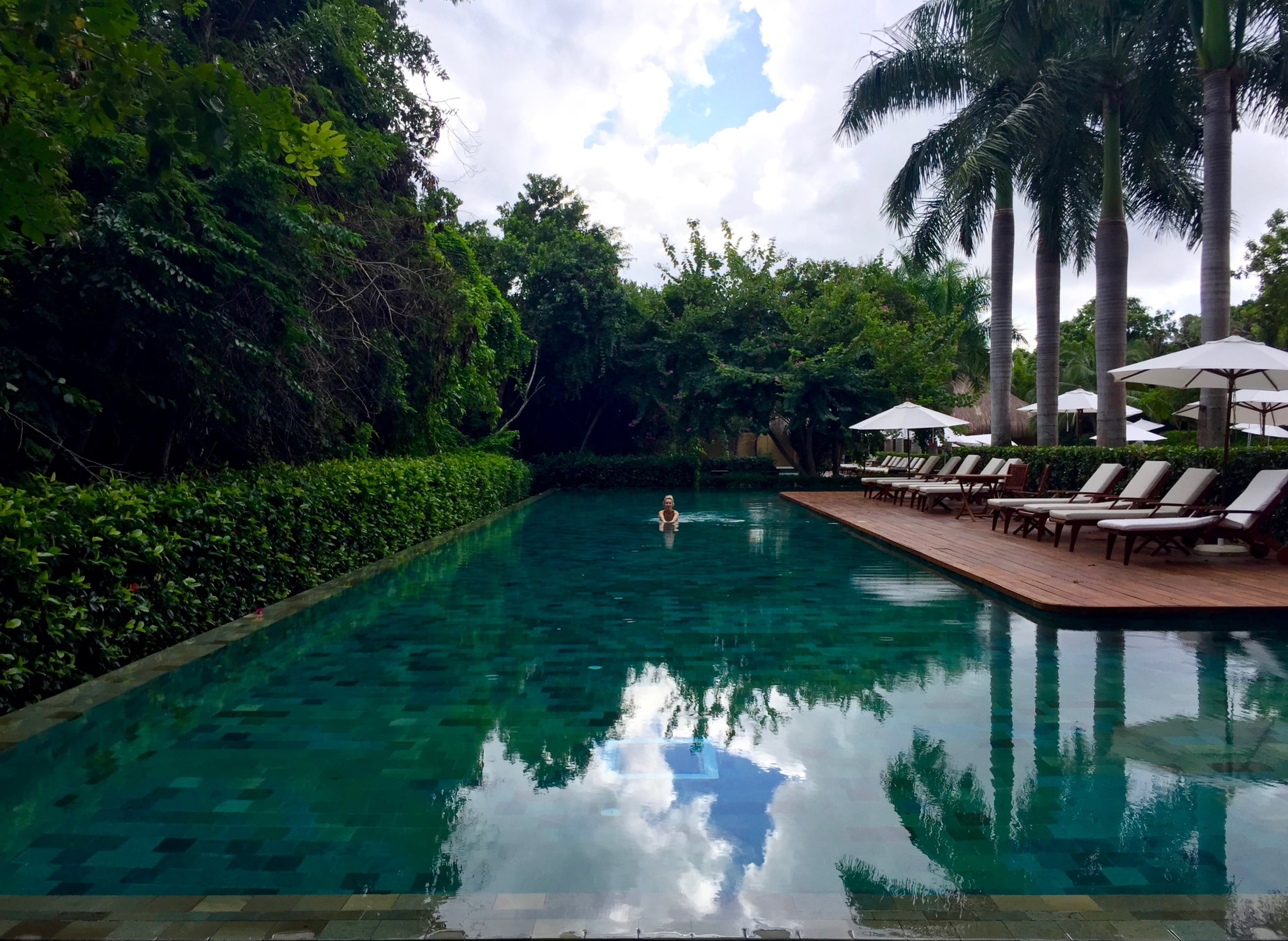 The zen pool, aptly situated in the Mayan jungle, at Grand Velas Riviera Maya { read about Grand Velas here }.