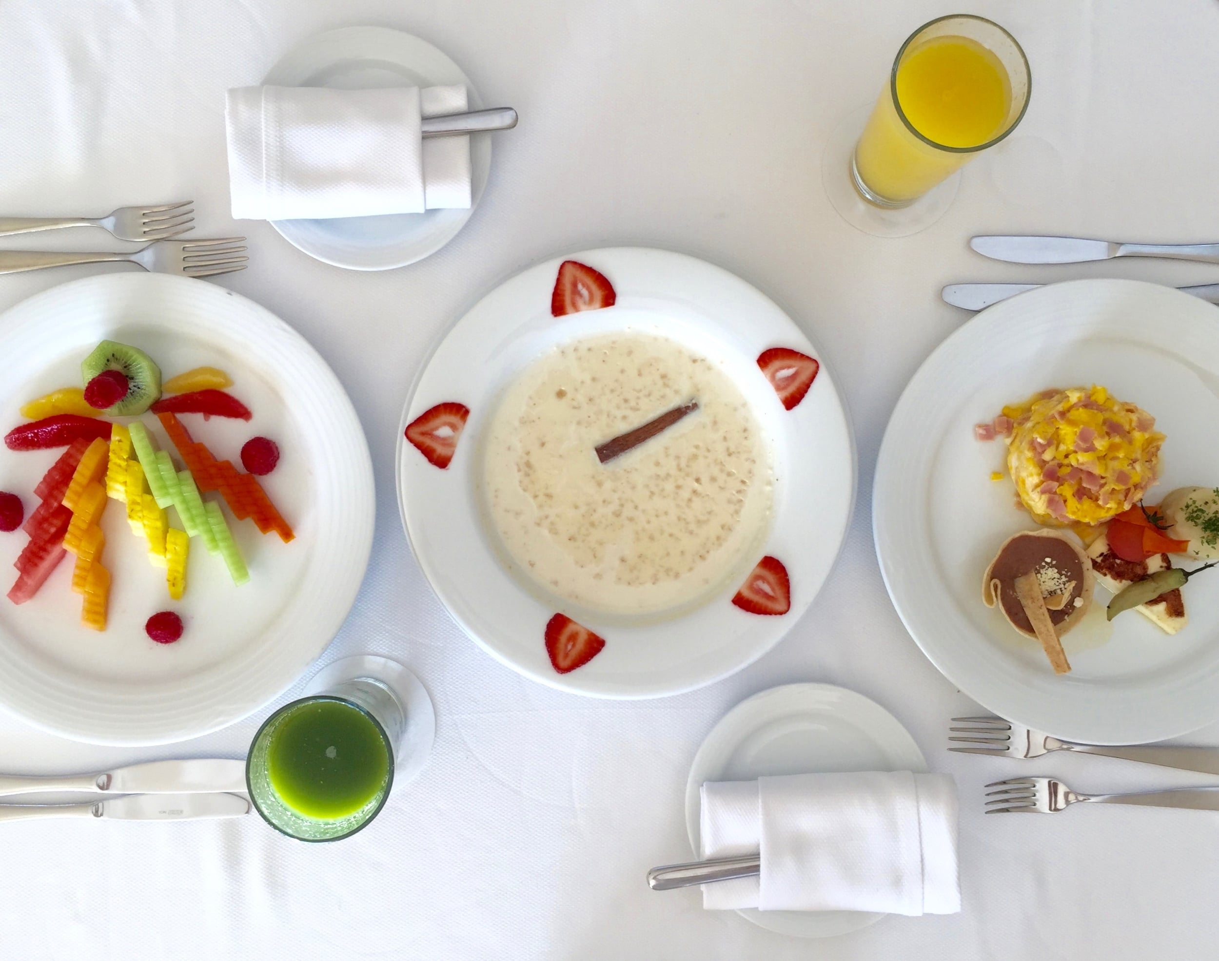 The chic {and included} room service at Grand Velas Riviera Maya.