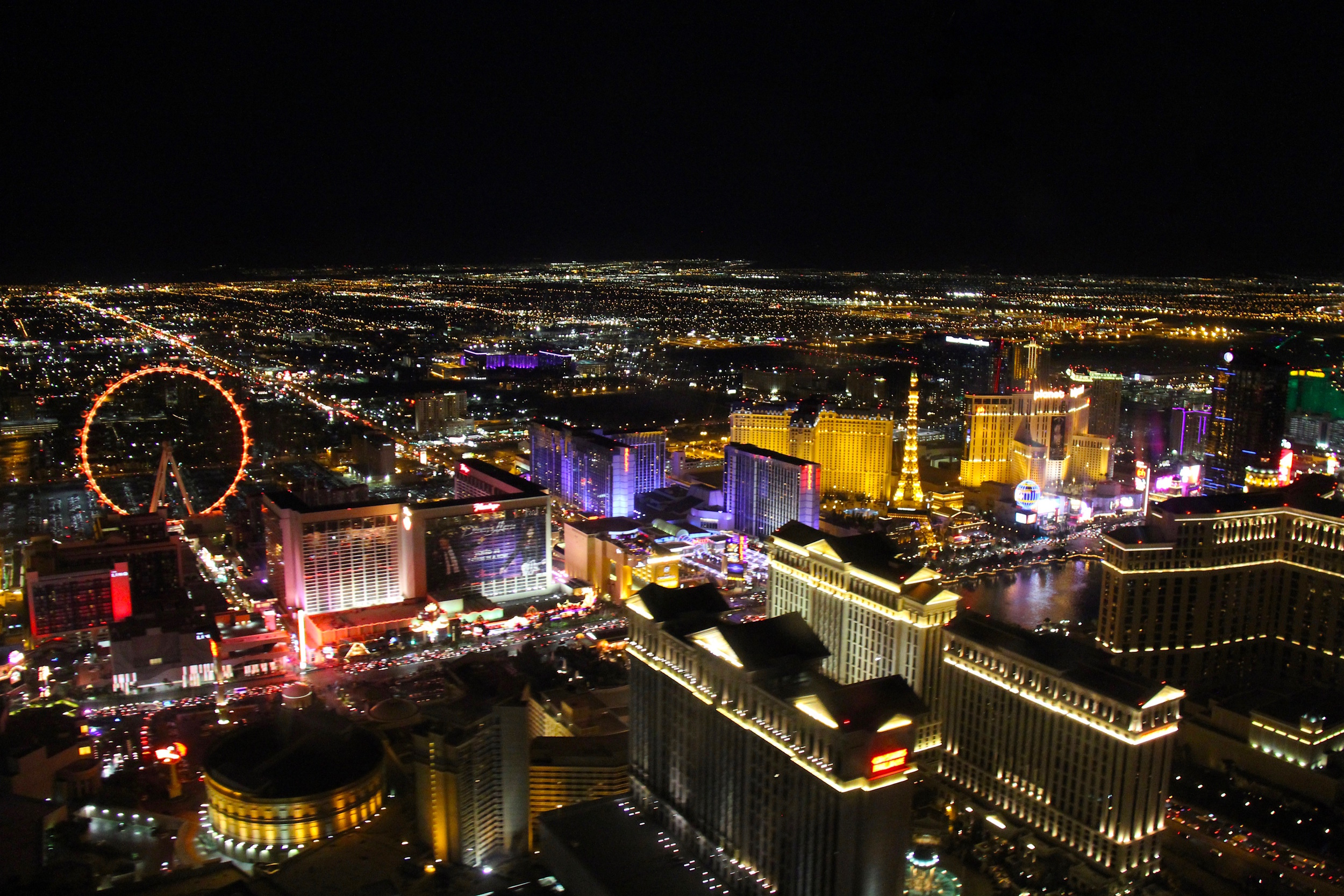 Vegas' sparkly setting captured from our helicopter's window!