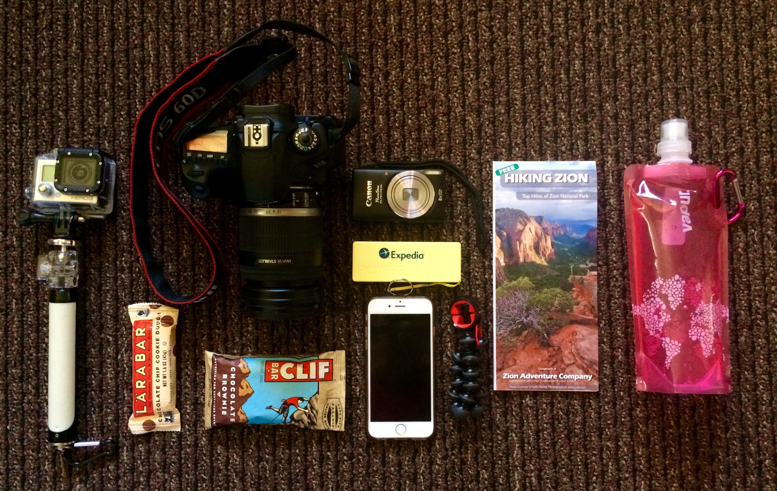 Our hiking essentials.