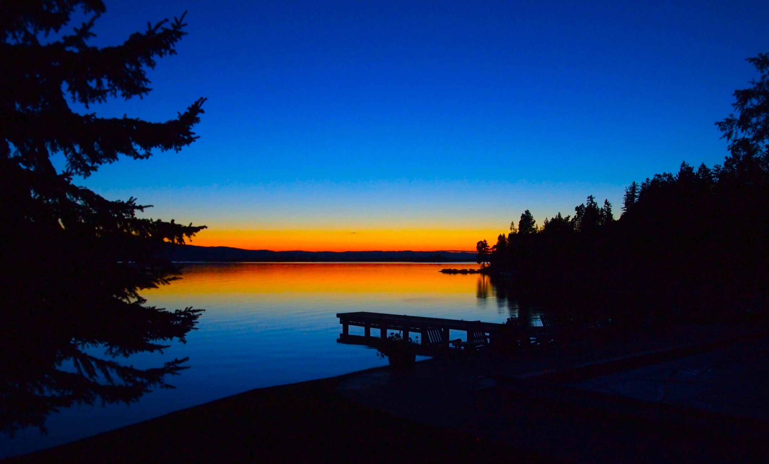 The sunset of all sunsets over Flathead Lake, the largest natural freshwater lake west of the Mississippi.