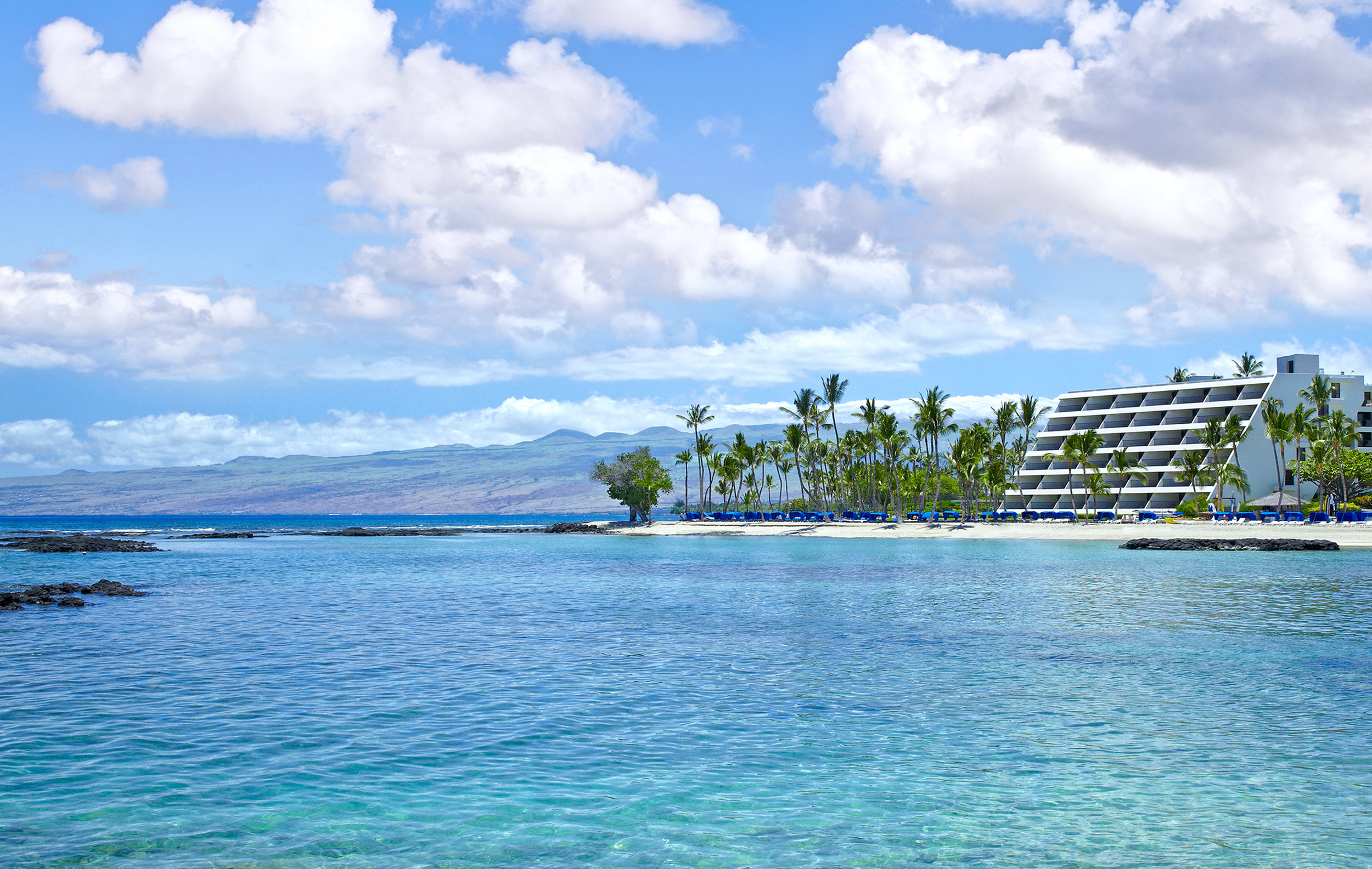 A feel-good stay: Mauna Lani Bay Hotel & Bungalows was the first resort in Hawaii to implement commercial-scale solar energy with a photovoltaic system so major, its panels span three acres.
