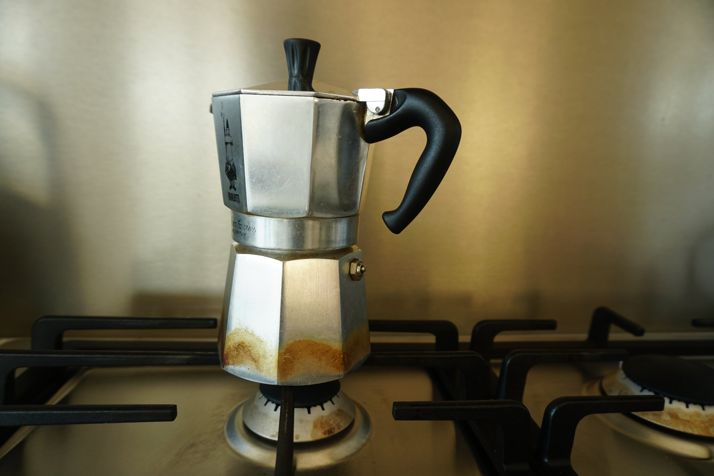 But first, coffee {-->  How to make espresso in the 1930's-developed Moka Express }