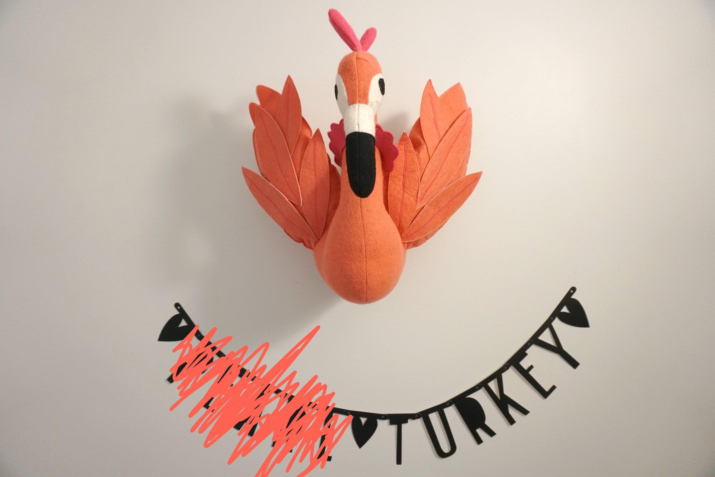 Turkeys are pink, right? :)