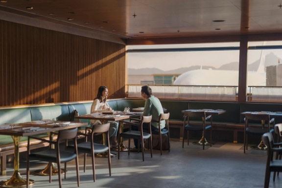 One of my favorite features about The Pier, First is The Dining Room, a chic-come-comfortable eatery with made-to-order dishes. Dressed in walnut, green leather and brass, I half expected to spot Don Draper dining with his ad exec friends, but sadly, I missed him.