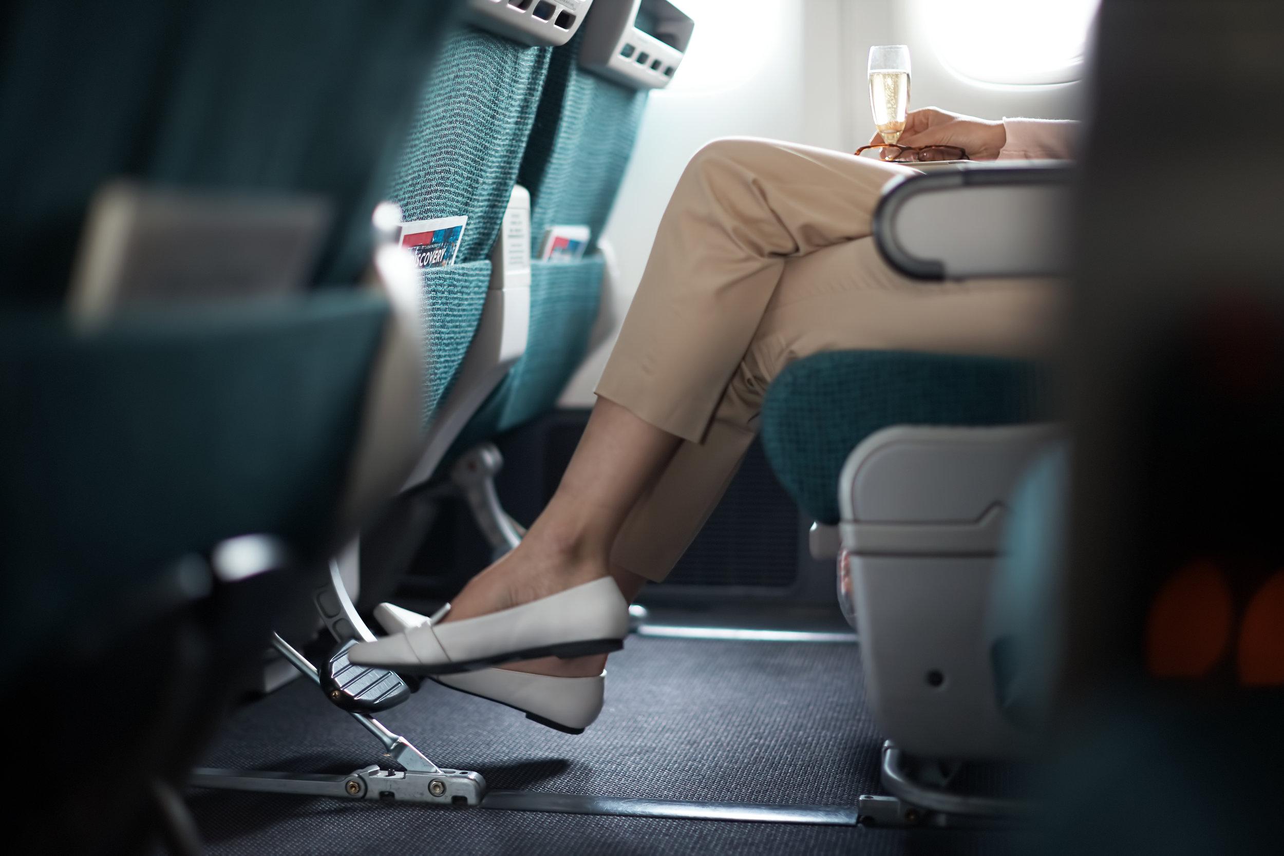 "38"" seat pitch in Premium Economy"
