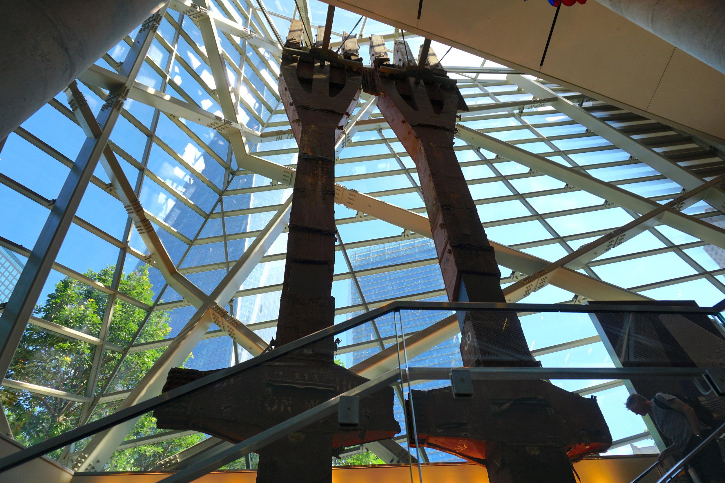Inside the National September 11 Museum.