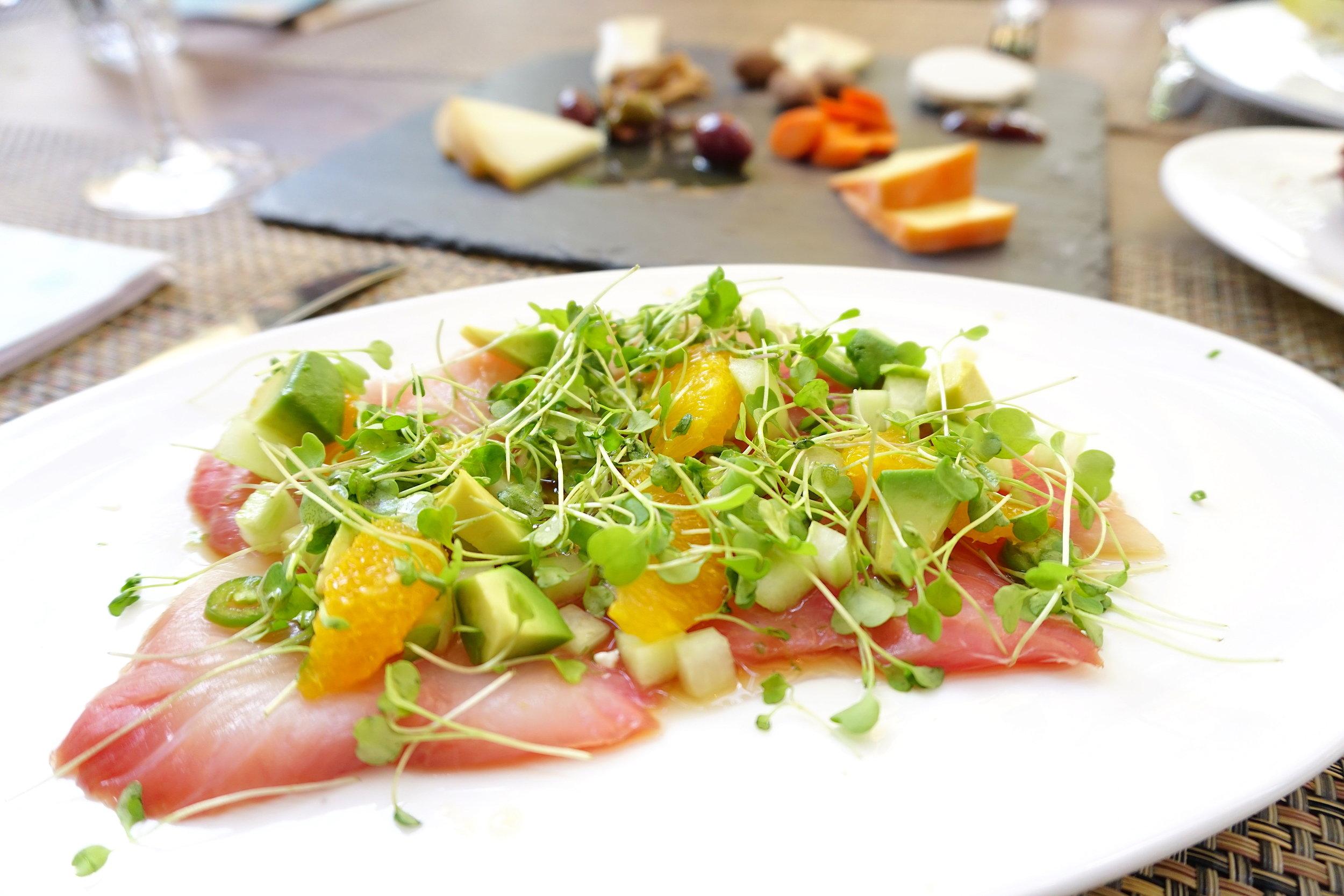 Tuna tartar at Beaubourg.