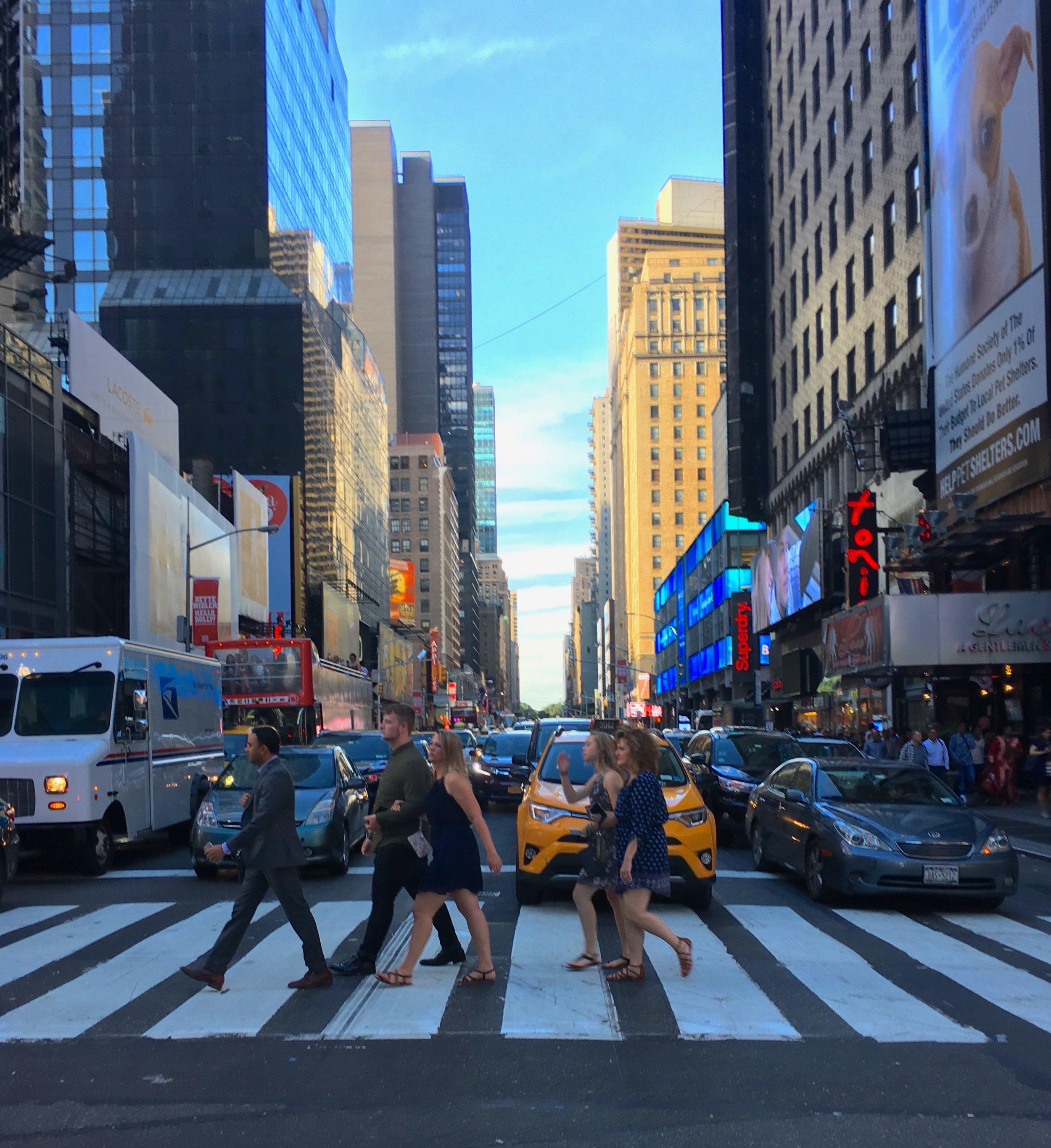 As you do in Manhattan: Walk everywhere.