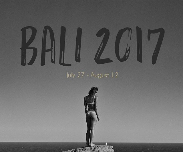 I'll be in Bali from July 27th till August 12. Available for any bookings or shoots during that time - this includes wedding guys! So if your tying the knot in Bali holla at me!
