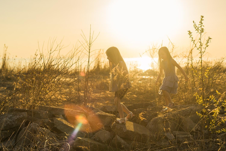 Kids Chasing Sun