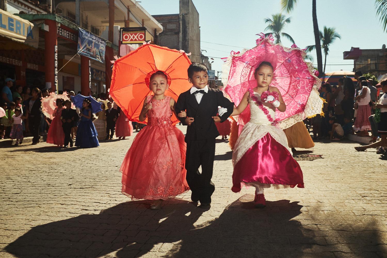 Mexico Revolution Parade in La Peñita