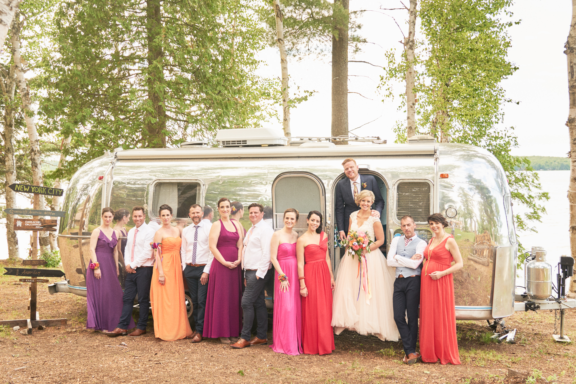 wedding party airstream