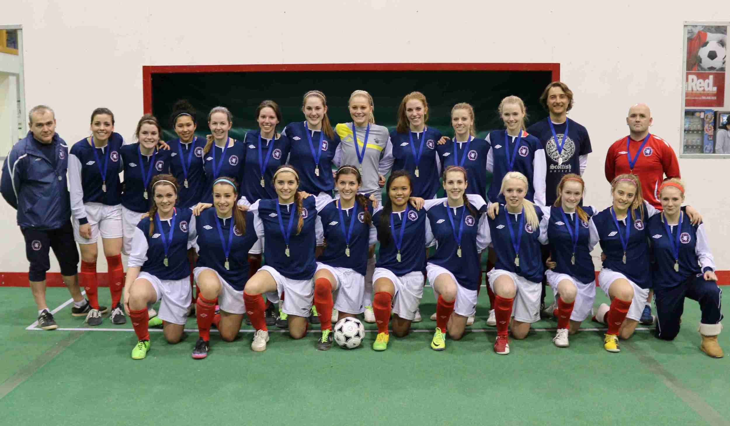 Scottish United Soccer Club - 1996 Girls - Indoor 2013-14 Provincial Silver Medalists