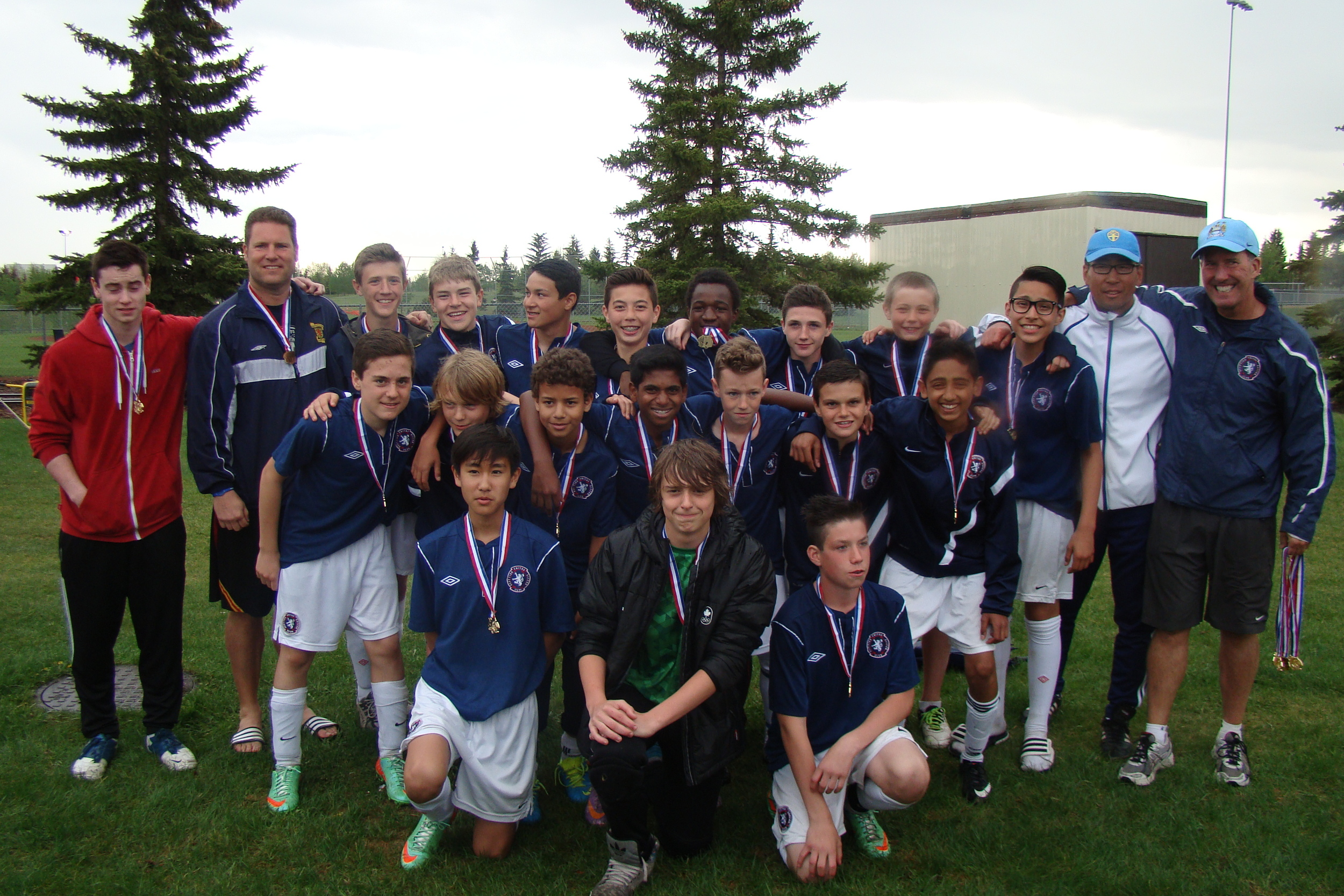 Under 14 Tier I Boys - Millwoods Kick-Off Classic Gold Medalists