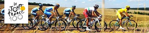 Bikes in Tour de France image.