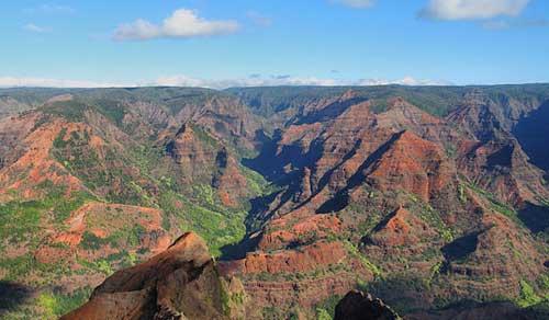 image of Waimea canyon on Kauai for Hawaii mountain biking challenge.