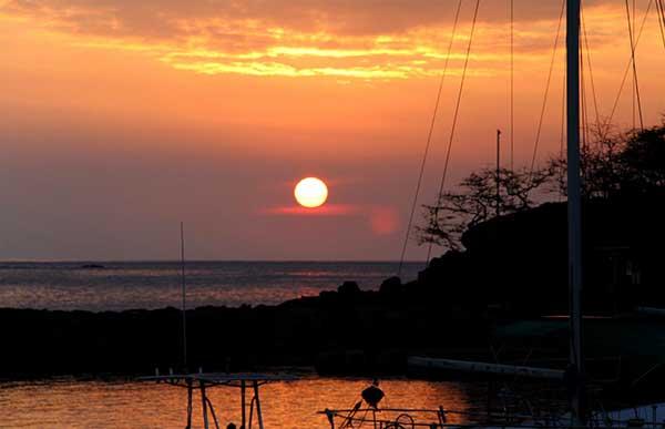 A beautiful Hawaii sunset on the island of Lanai during the TriLanai triathlon.