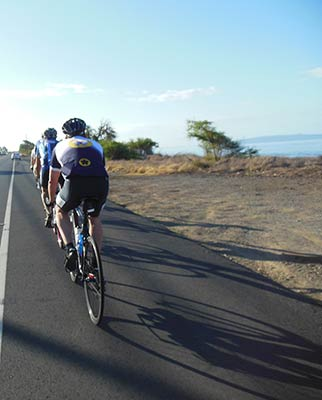 Bike riding on the West Maui Loop
