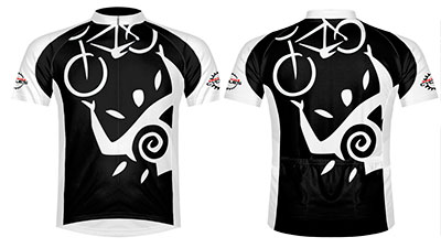 Maui petroglyph bike jersey at West Maui Cycles.