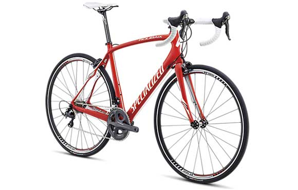Performance road bike rentals include the Specialized Roubaix Carbon Fiber road bike.