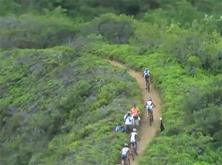 XTERRA World Championship mountain bike course Razors Ridge section.