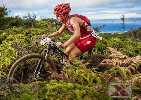 XTerra world championship bike riding on Maui.