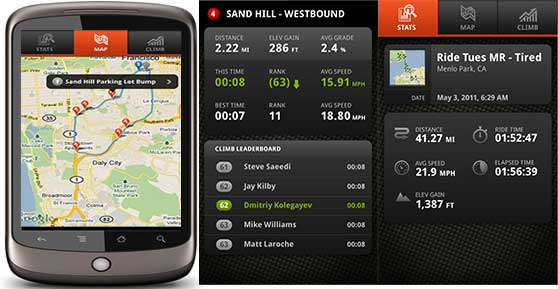 Track your Maui bike rides with the Strava bike app.
