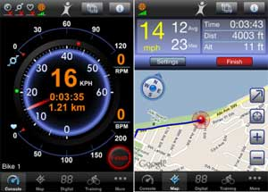 Maui bicycle ride route tracking app by bikebrain