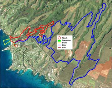The Kapalua Bike Trails and Run Courses for the XTerra World Championships.