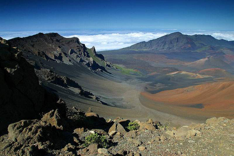 View into the Haleakala Crater