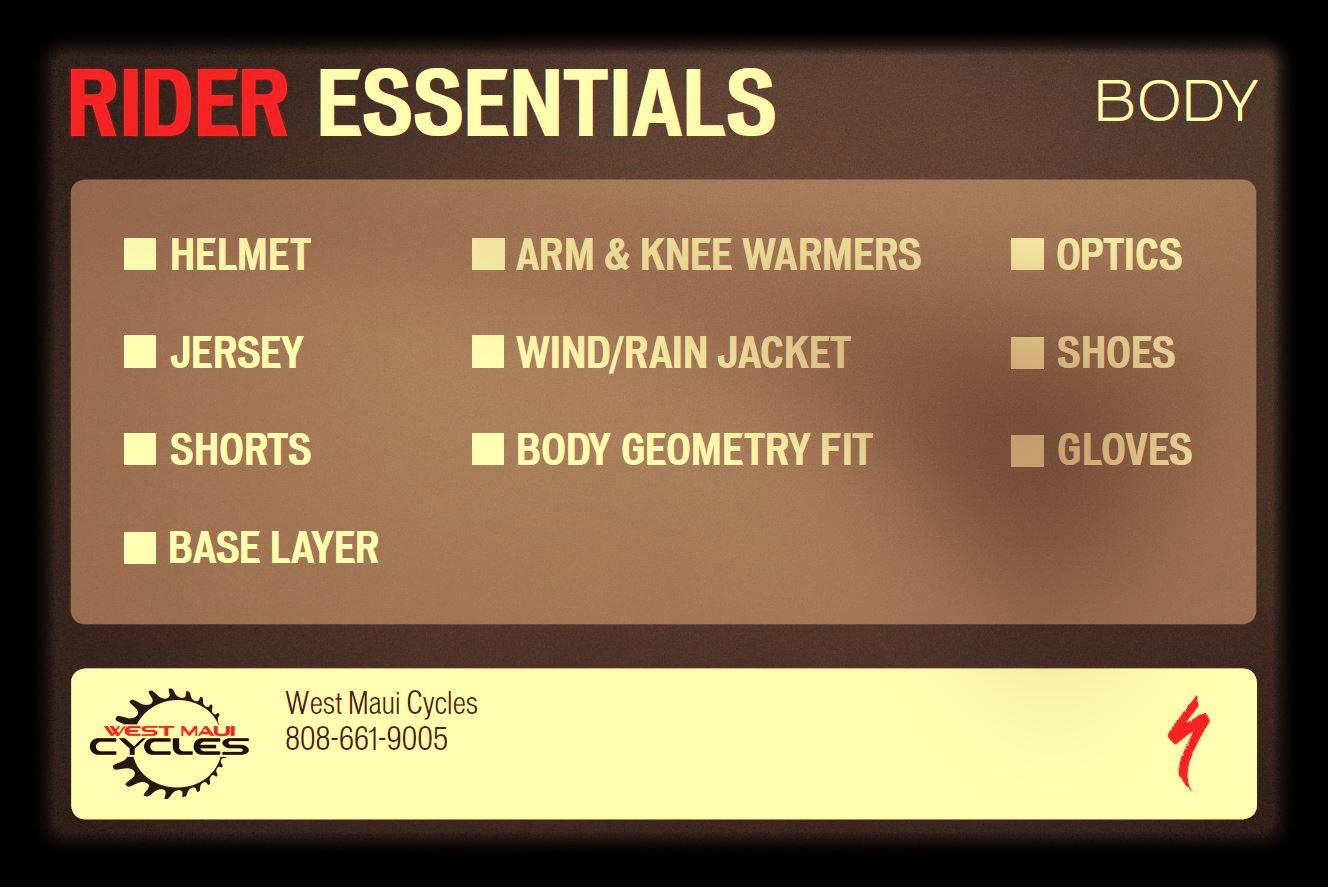 Specialized Rider Essentials Card