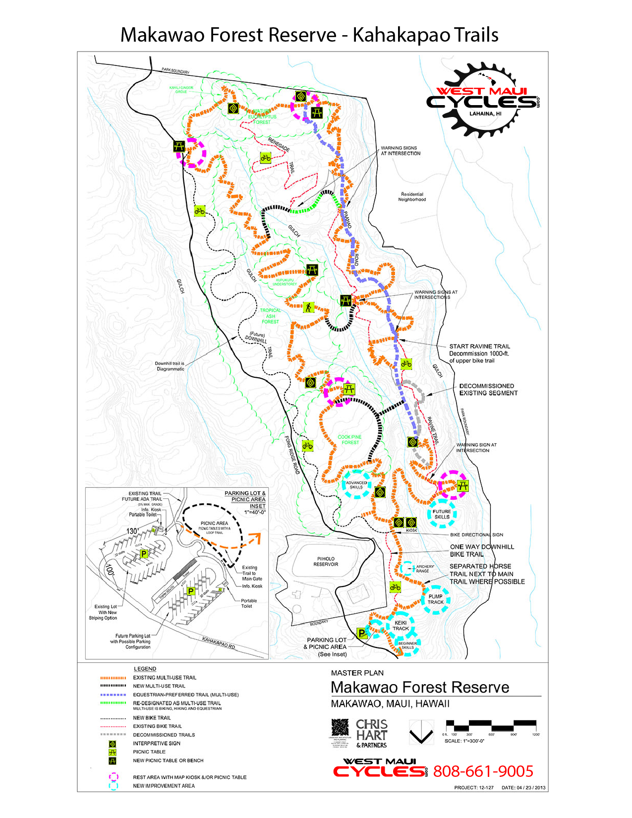 Makawao Forest Reserve - Kahakapao Trail system