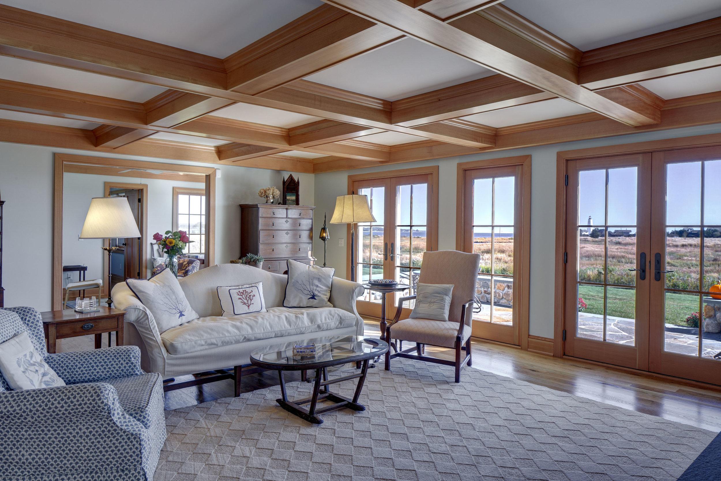 Coastal Cottage Coffered Ceiling