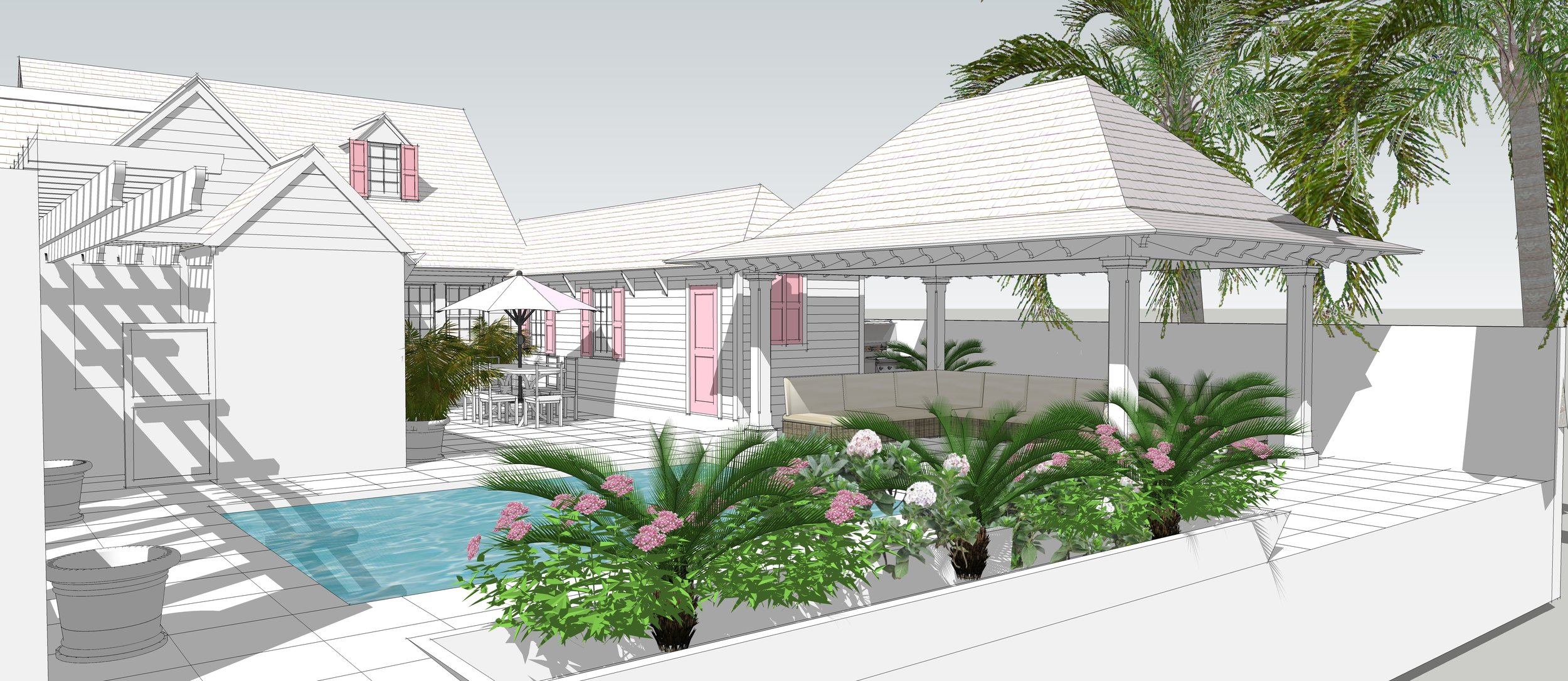 Rendering of Bahamian Vacation House