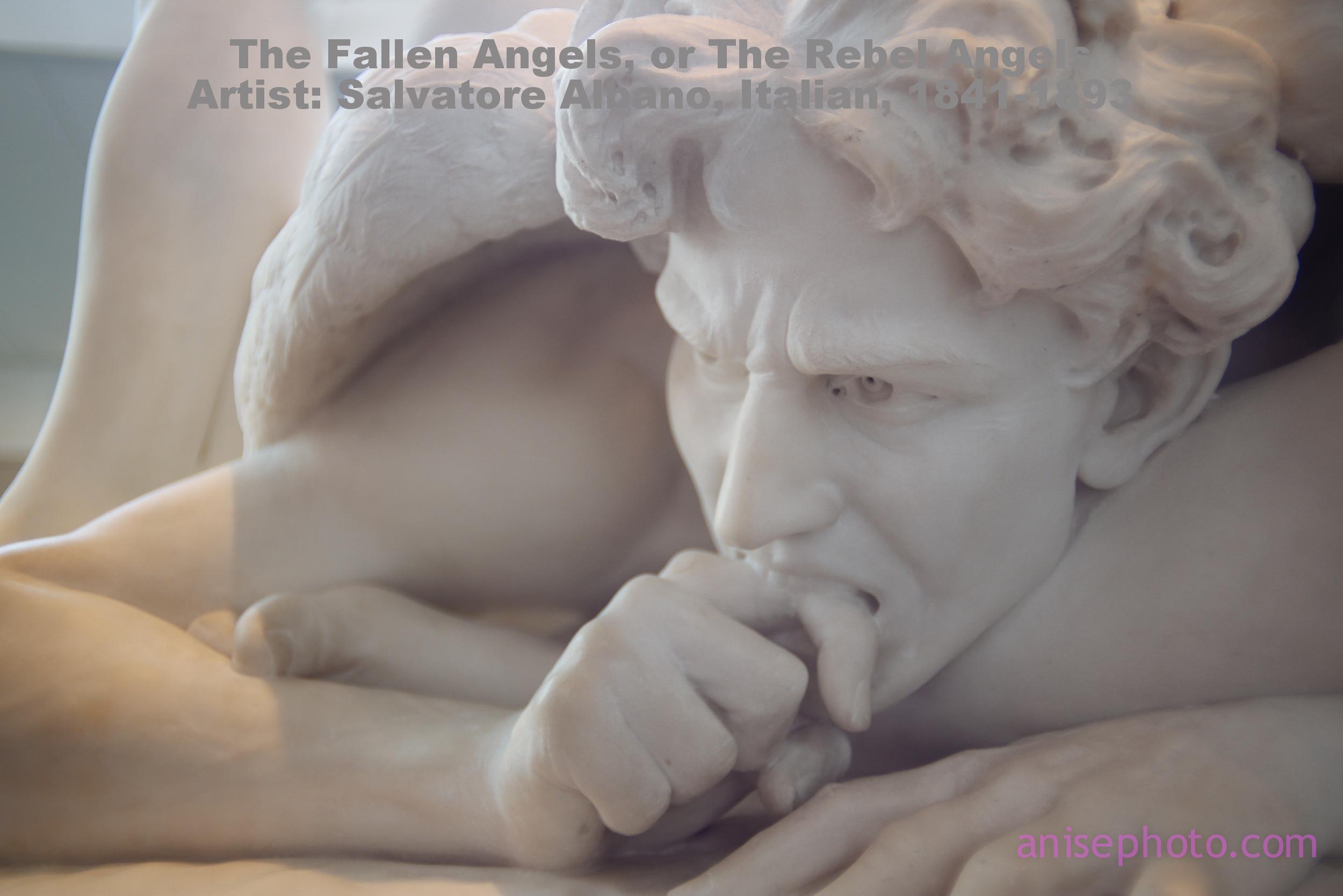 The Fallen Angels, or The Rebel Angels  Artist: Salvatore Albano, Italian, 1841-1893
