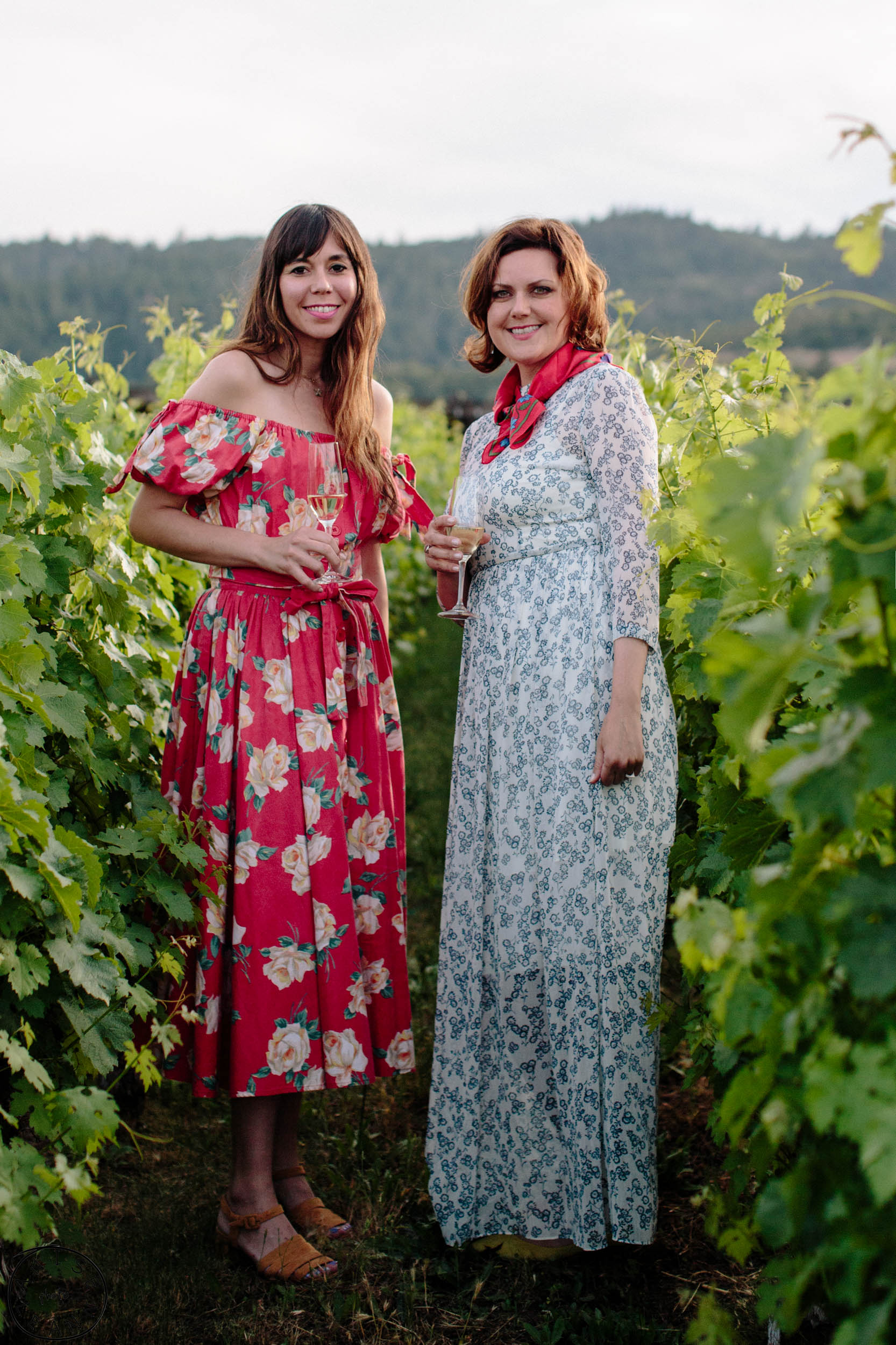 Kat & I on our last night in dreamy To Kalon Vineyard.............