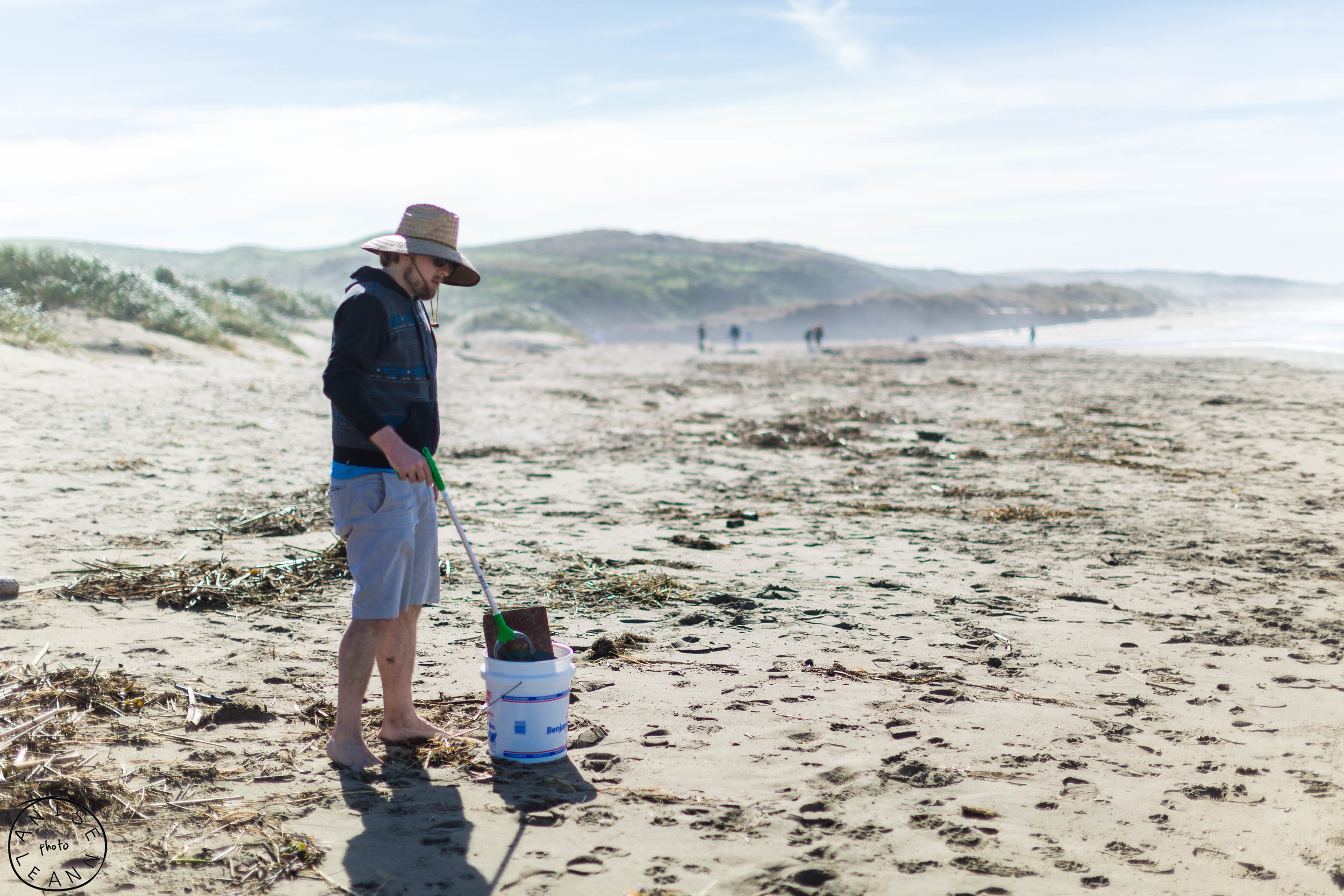 Nick is the beach cleanup manager - he will be hosting monthly cleanups