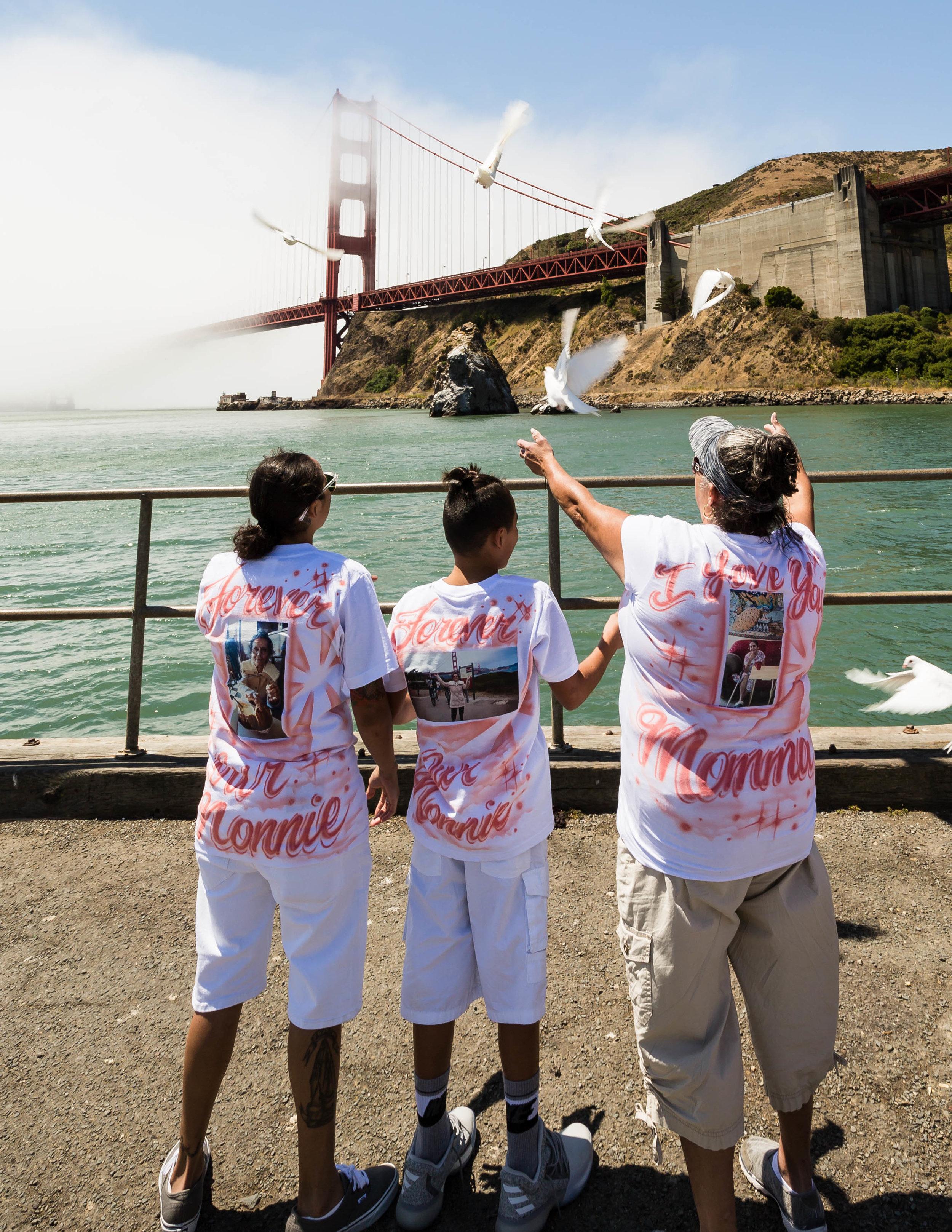 Doves Release at Golden GAte bridge, California