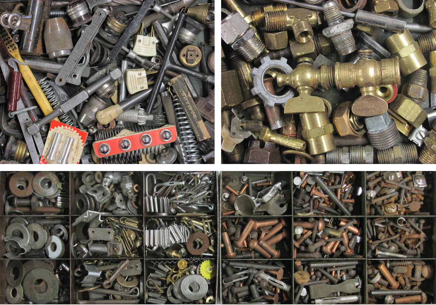 Contents of just four of 16 drawers.  Click image to enlarge.